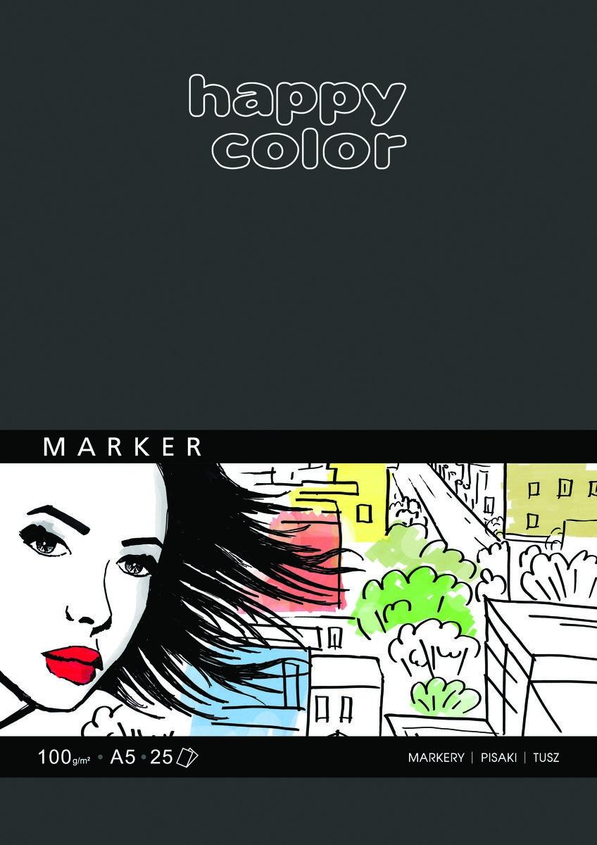Blok do markerów pisaków A5 100g - Happy Color