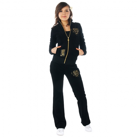 Babystaff Diva velour suit black