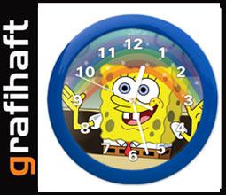 Zegary  Zegar ścienny SPONGEBOB dla dzieci prezent