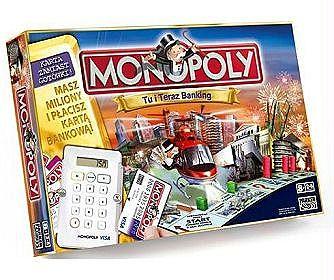 Monopoly Tu i Teraz Banking - gra planszowa