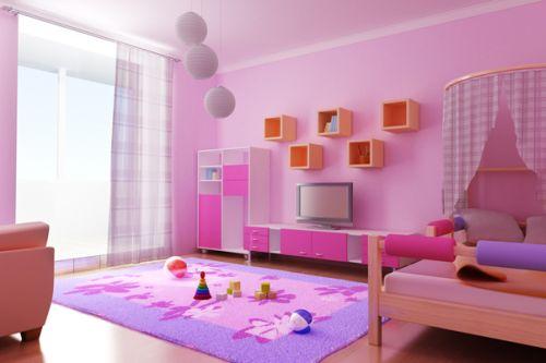 piękny różowy ogromny pokój