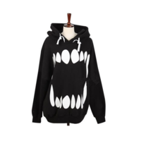 Harajuku cute teeth hoodies coat