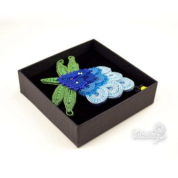 Kaszubska koniczynka - sutaszowa broszka