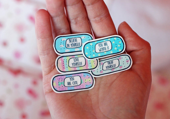 15 Motivational Bandaid Tattoos Quotes Temporary Tattoo Pack ~