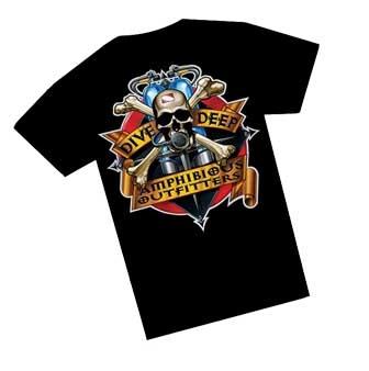 T-Shirt Deep Skull - Amphibious Outfitters