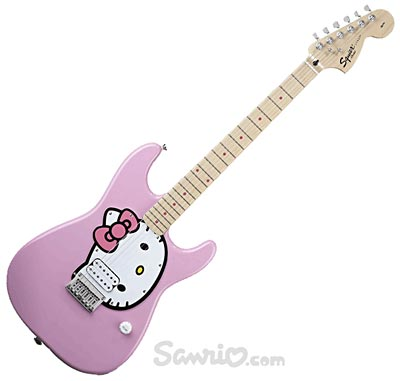 Gitara z Hello Kitty