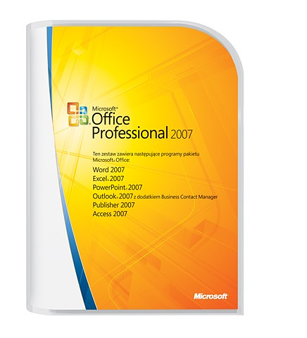 Microsoft Office Professional 2007 PL 10 Academic Edition BOX