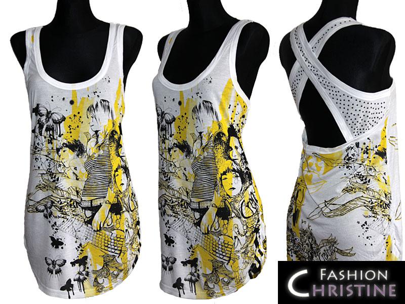 Biało - żółta tunika NEW LOOK