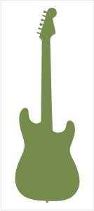 Naklejka na ścianę gitara