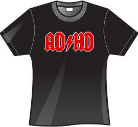 Koszulka z napisem AD/HD czarna